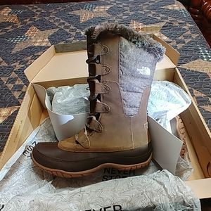 North face winter waterproof Brown boots